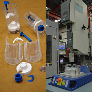 sonic welding & container assembly